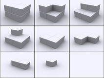 Cubes in steps Royalty Free Stock Image