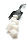 Cubes of sugar Royalty Free Stock Images