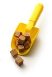 Cubes of sugar with spoon Stock Image
