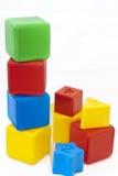 Cubes sur un fond blanc. photographie stock libre de droits