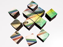 Cubes from top Royalty Free Stock Image