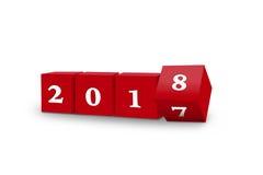 Cubes tournant 2018 Image libre de droits