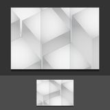 Cubes trifold template illustration design Royalty Free Stock Images