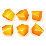 Cubes in various combinations of position Royalty Free Stock Photos