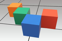 Cubes vector Royalty Free Stock Photos
