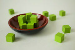Cubes verts Photographie stock libre de droits
