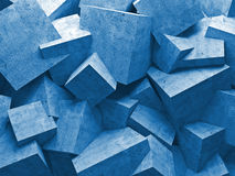 Cubes wall Stock Images