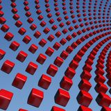 Cubes wave array Royalty Free Stock Images