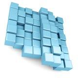 Cubes  on white background Royalty Free Stock Image
