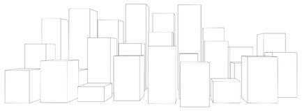 Cubes on white Royalty Free Stock Photography