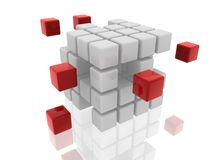 Cubes white and red Royalty Free Stock Photography