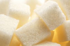 Cubes of white sugar Royalty Free Stock Photo