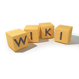Cubes with wiki Stock Photos