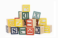 Cubes With Letters Isolated Royalty Free Stock Photography