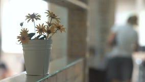 Cubeta branca com flores filme