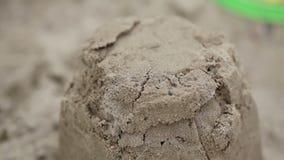 Cubeta com areia video estoque