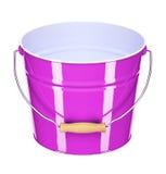 Cubeta cor-de-rosa Fotografia de Stock