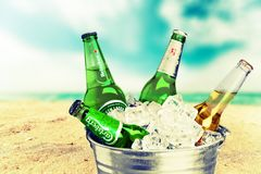 Cubeta da cerveja Imagens de Stock