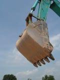 Cubeta da máquina escavadora Foto de Stock Royalty Free