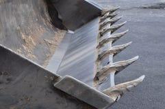 Cubeta da máquina escavadora após o trabalho Foto de Stock Royalty Free