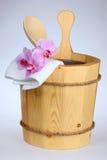 Cubeta da sauna Foto de Stock Royalty Free