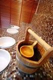 Cubeta da sauna imagem de stock royalty free