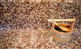 Cubeta da sauna fotografia de stock royalty free