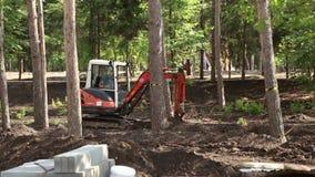 Cubeta de escavação da máquina escavadora video estoque