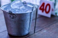 Cubeta de gelo Fotografia de Stock