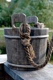 Cubeta de madeira Imagem de Stock Royalty Free