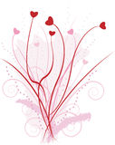 Cubeta do amor Imagem de Stock