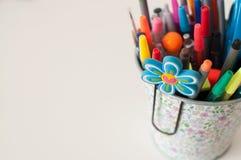 Cubeta do lápis Imagem de Stock