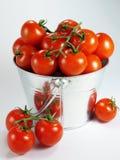 Cubeta dos tomates Fotos de Stock