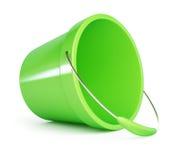 Cubeta plástica verde do bebê Fotos de Stock Royalty Free