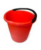 Cubeta plástica vermelha Fotografia de Stock