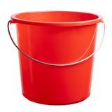 cubeta plástica vermelha Foto de Stock Royalty Free