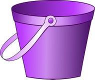 Cubeta roxa Imagem de Stock
