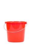 Cubeta vermelha Foto de Stock Royalty Free