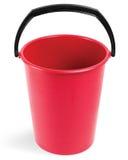 Cubeta vermelha imagem de stock