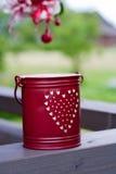Cubeta vermelha pequena Imagem de Stock