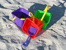 Cubetas da praia Foto de Stock Royalty Free