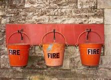 Cubetas de incêndio Fotos de Stock
