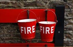 Cubetas de incêndio Fotografia de Stock