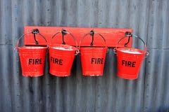 Cubetas de incêndio imagens de stock