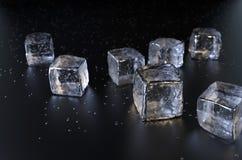 Cubetti di ghiaccio Fotografia Stock