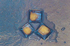 Cubetti di ghiaccio astratti Immagini Stock Libere da Diritti