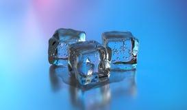 cubetti di ghiaccio 3D rappresentazione 3d Immagine Stock