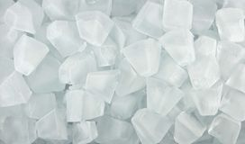 Cubetti di ghiaccio per fondo Fotografia Stock Libera da Diritti