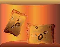 Cubetti di ghiaccio in un vetro di whiskey royalty illustrazione gratis