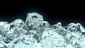 cubetto di ghiaccio 3D Immagini Stock Libere da Diritti